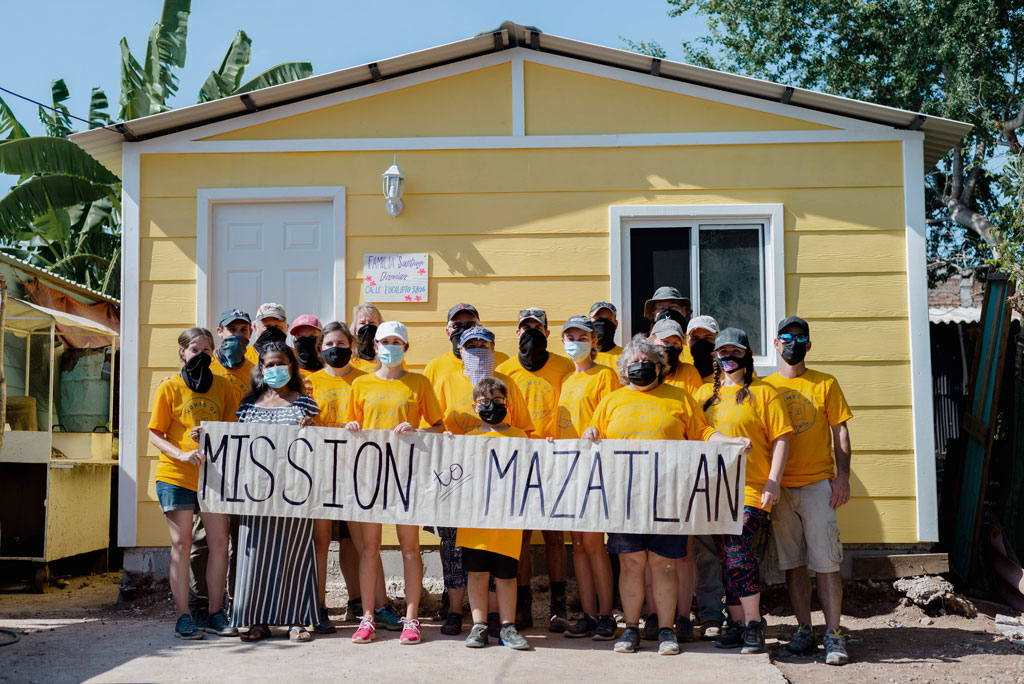 Homes of Hope team finishes building a home for a woman in Mazatlan