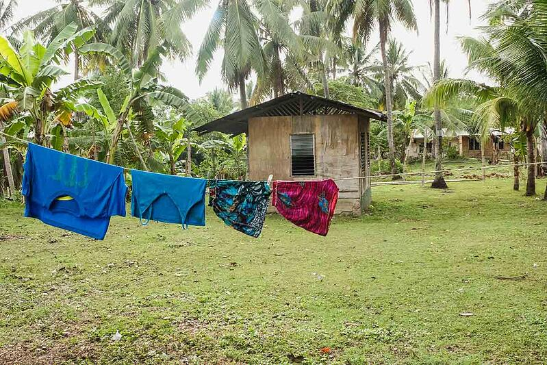 A few articles of clothing hanging on a line in a remote village on a YWAM Mazatlan missionary outreach