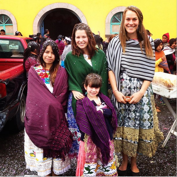 YWAM missionaries dressed in local garments while on outreach in central Mexico