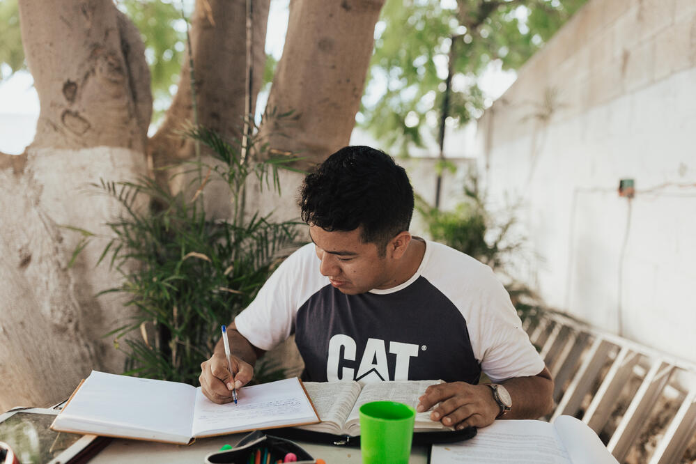Youth Studying the Bible in Mazatlan, Mexico