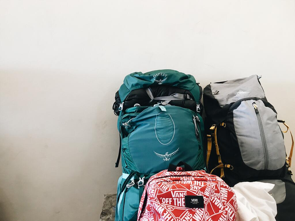 missionary backpacks getting ready for an adventure with YWAM