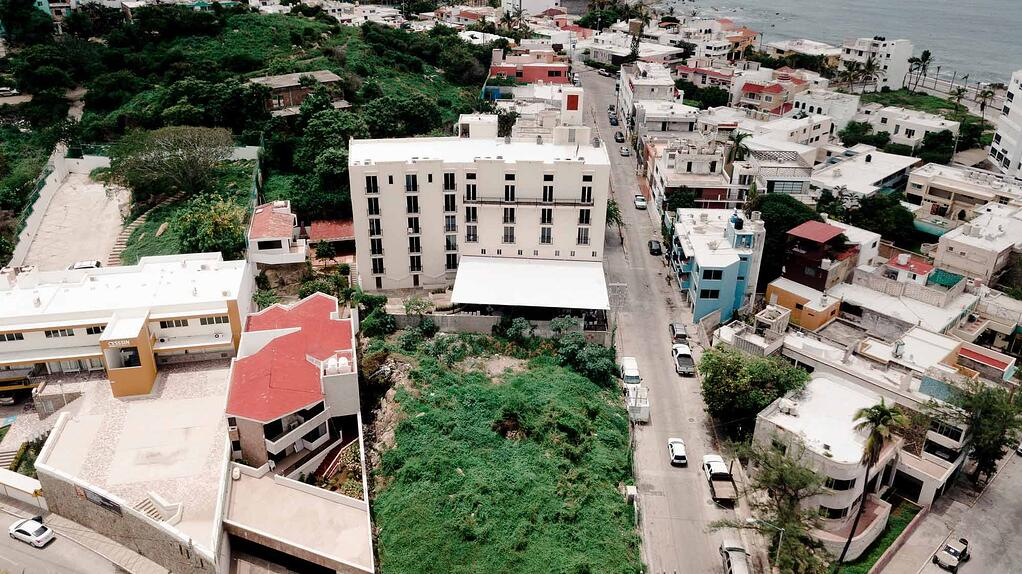 Aerial view of the YWAM campus in Mazatlan, Mexico